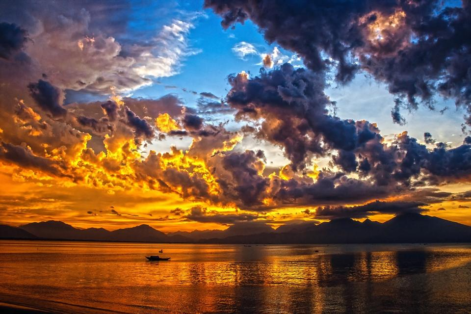 Free download high resolution image - free image free photo free stock image public domain picture  Sunset Sky Cloud Da Nang Bay