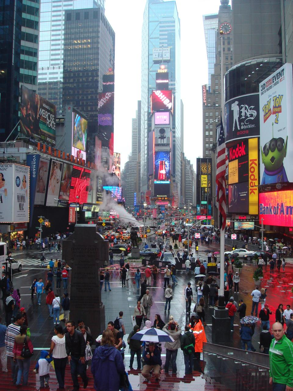 Times Square, Broadway Theater und animierte LED vorge