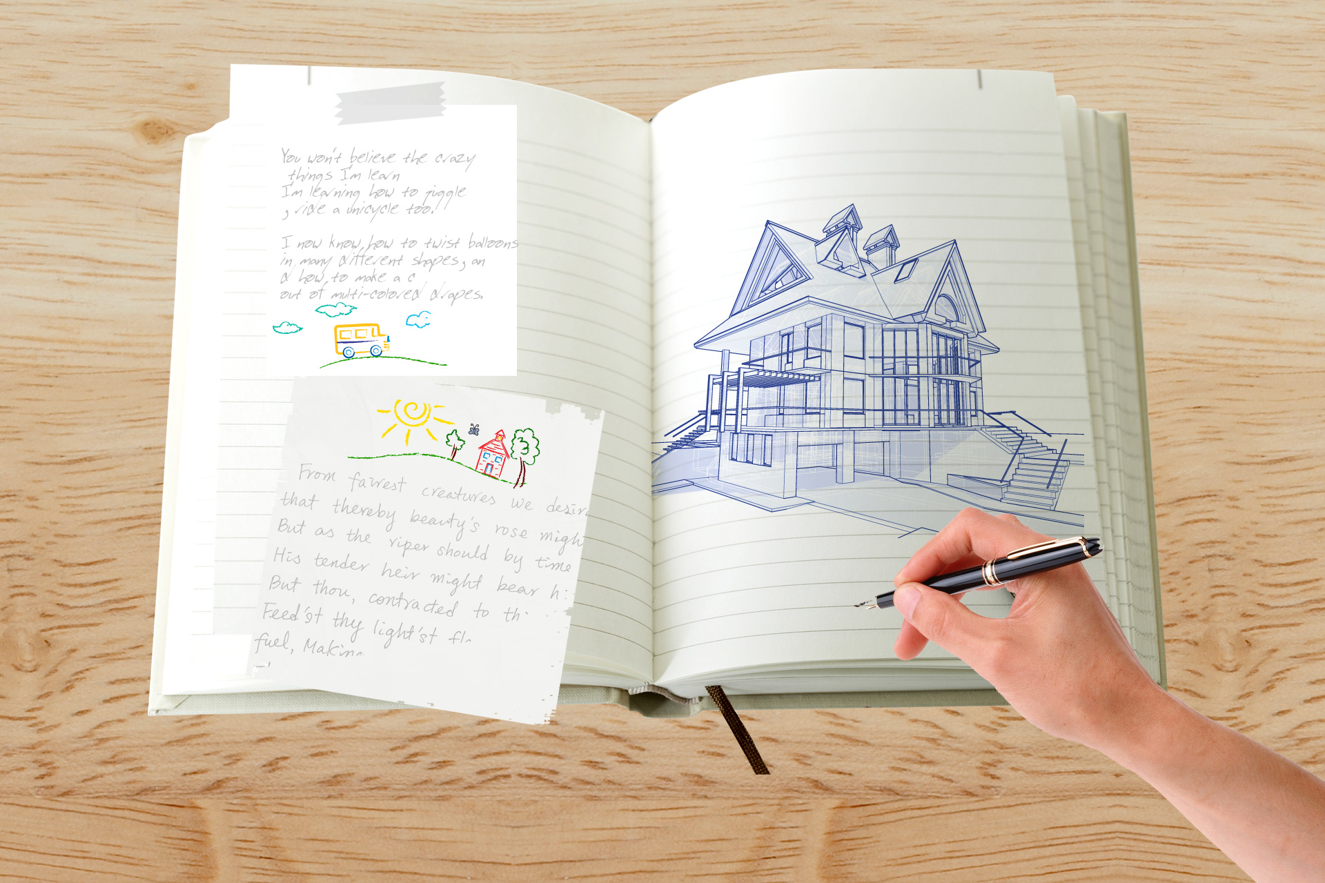 Free download high resolution image - free image free photo free stock image public domain picture -Hand drawing on the notebook