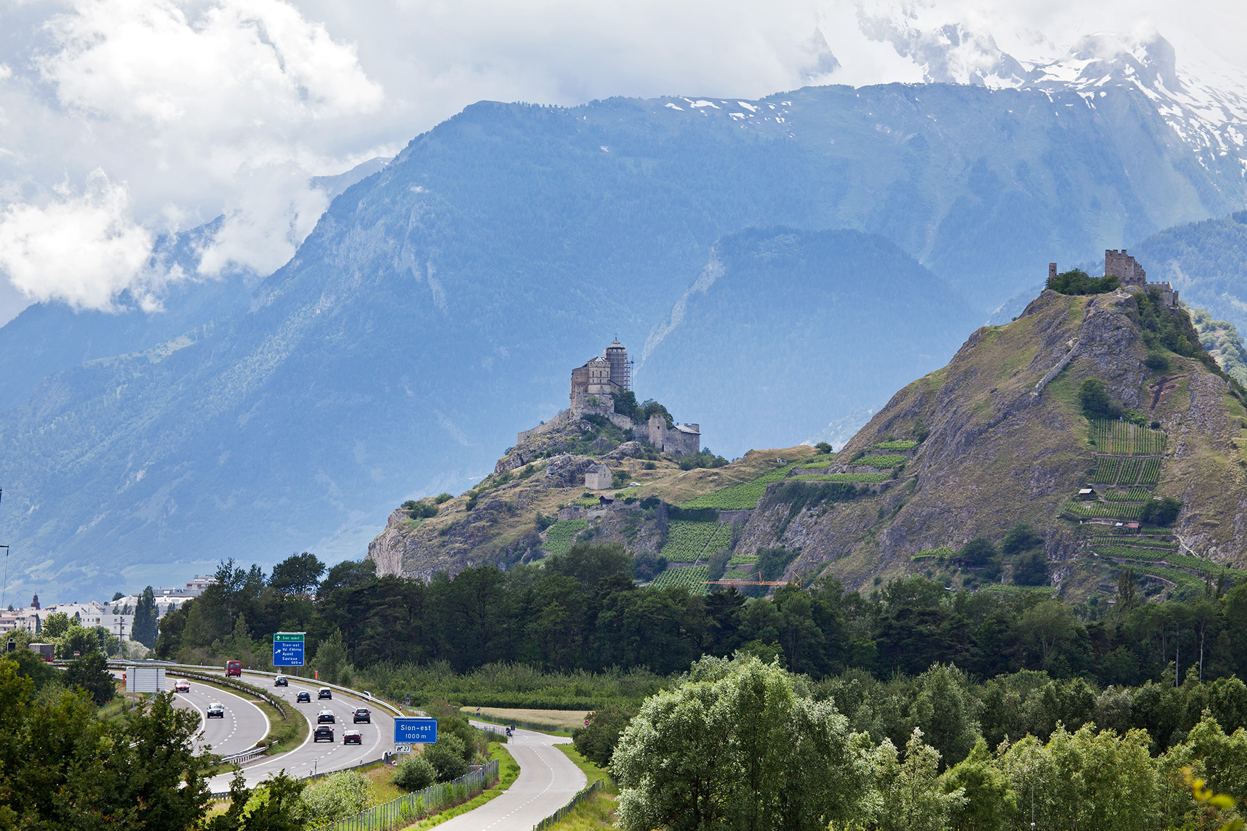 Free download high resolution image - free image free photo free stock image public domain picture -Sion skyline with Chateau de Tourbillon