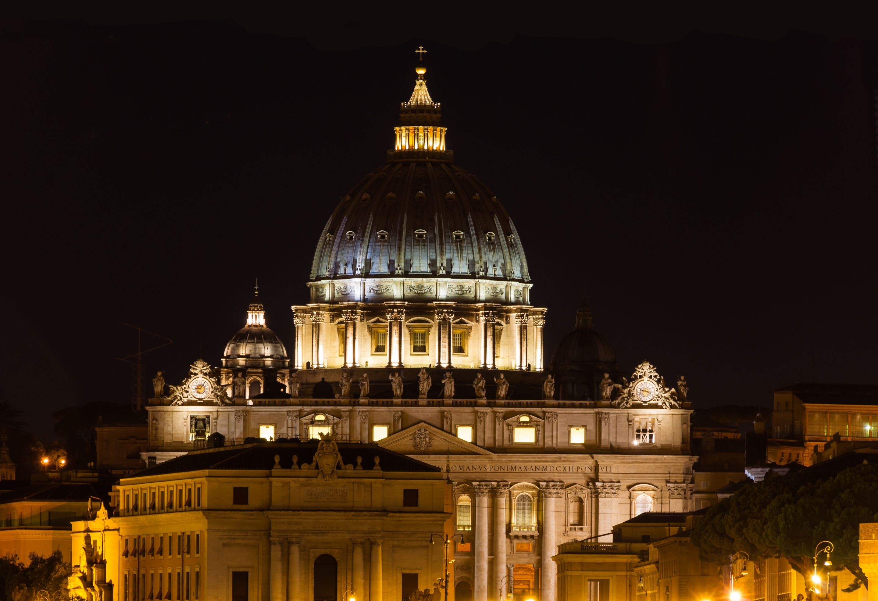 Free download high resolution image - free image free photo free stock image public domain picture -Night view at St. Peter's cathedral in Rome, Italy