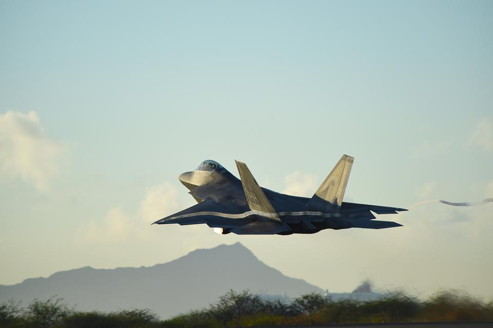 Un F-22 Raptor de la Hawaii