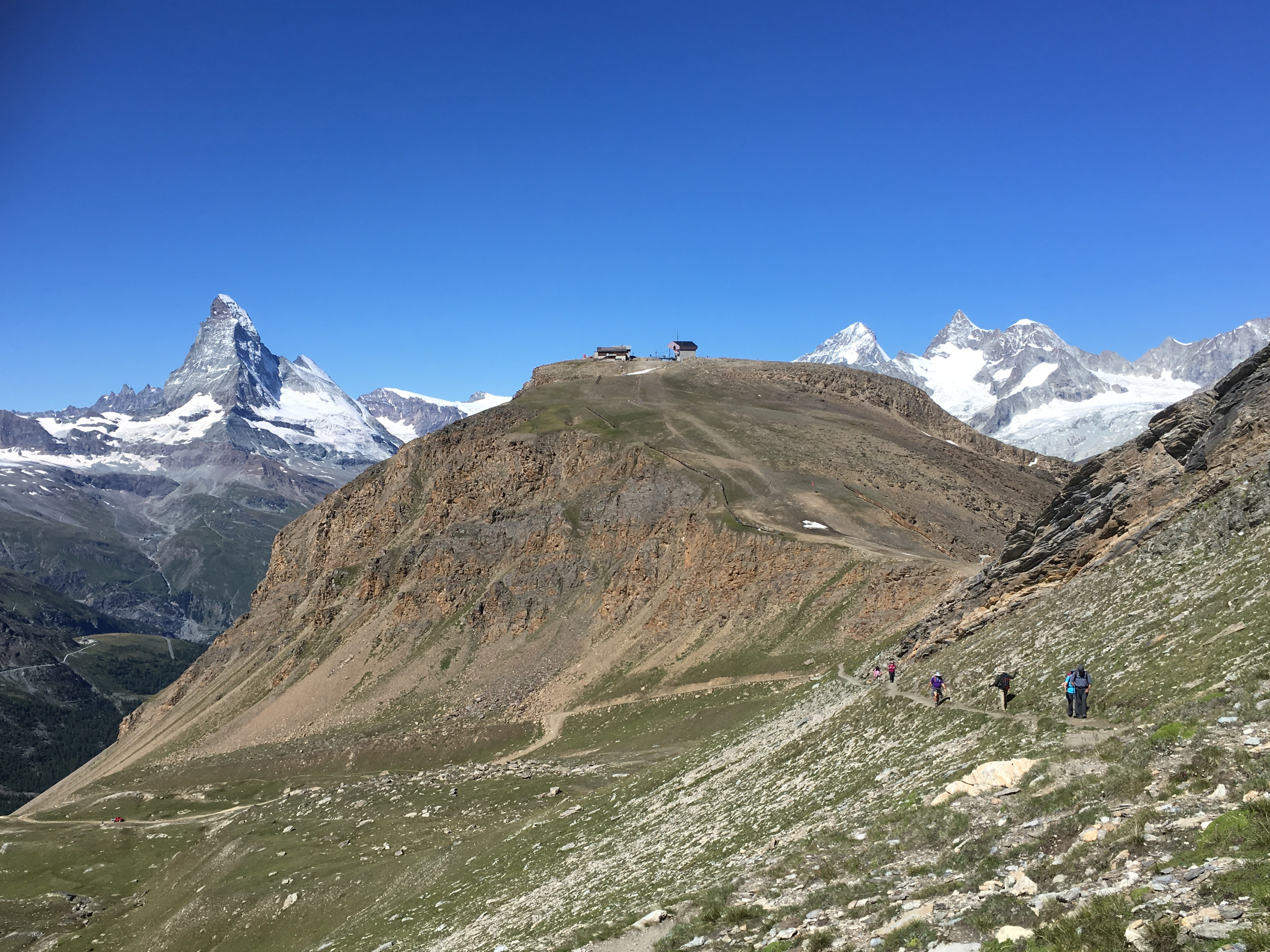 Free download high resolution image - free image free photo free stock image public domain picture -hikers team in the mountains. Matterhorn. Swiss Alps