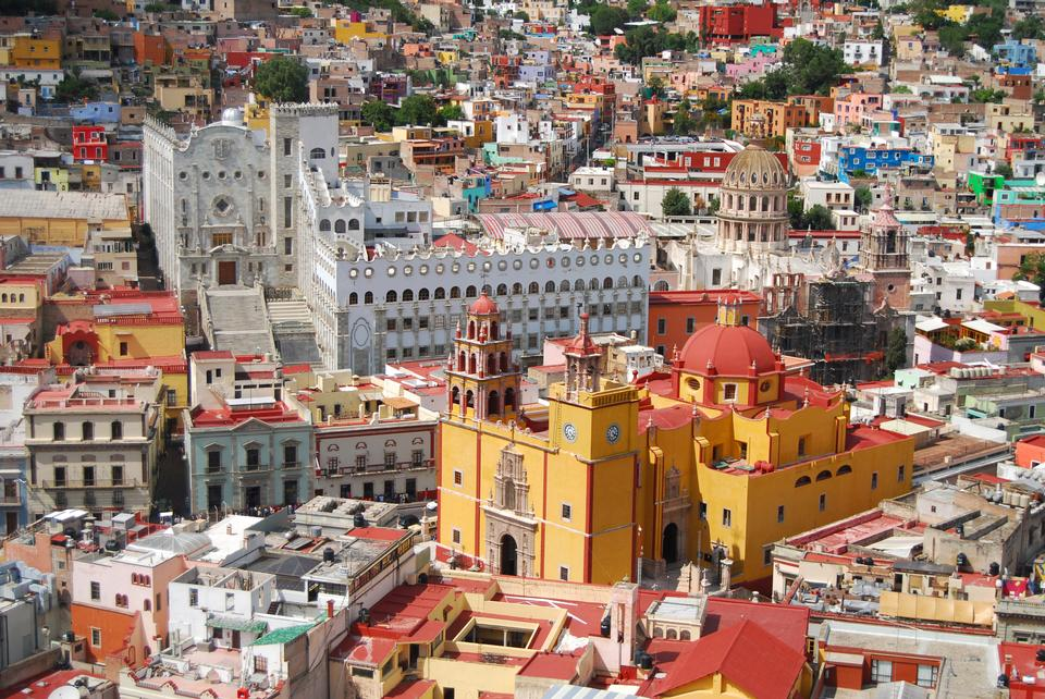 Free download high resolution image - free image free photo free stock image public domain picture  Vista of colorful city Guanajuato - Old Cathedral