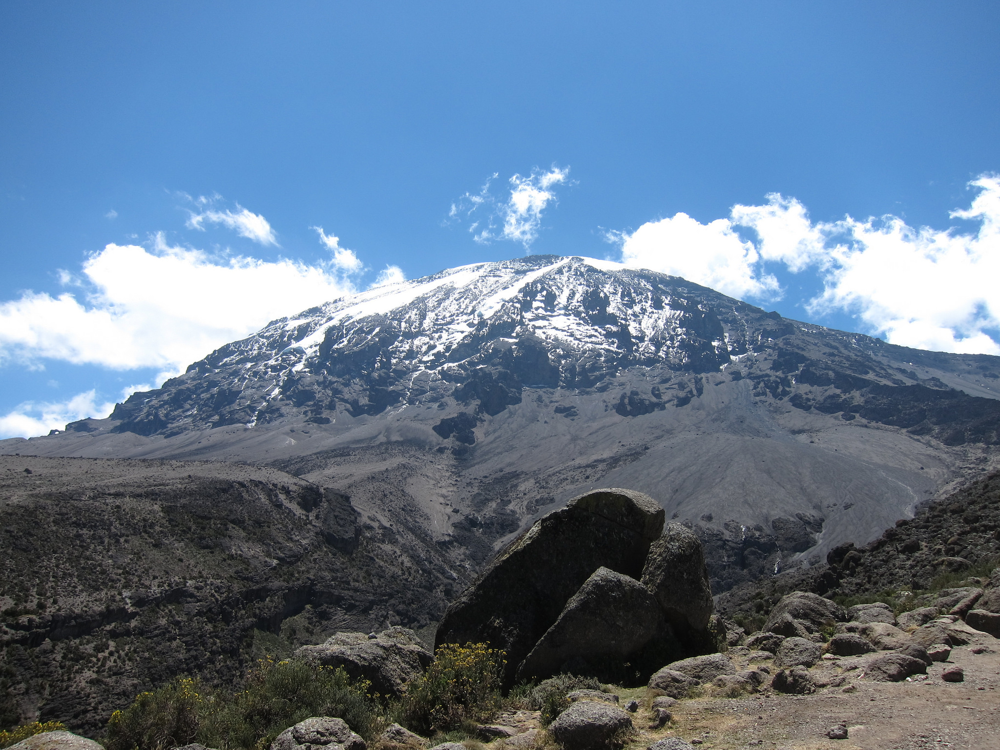 Free download high resolution image - free image free photo free stock image public domain picture -Kilimanjaro mountain Tanzania snow capped under cloudy blue skies