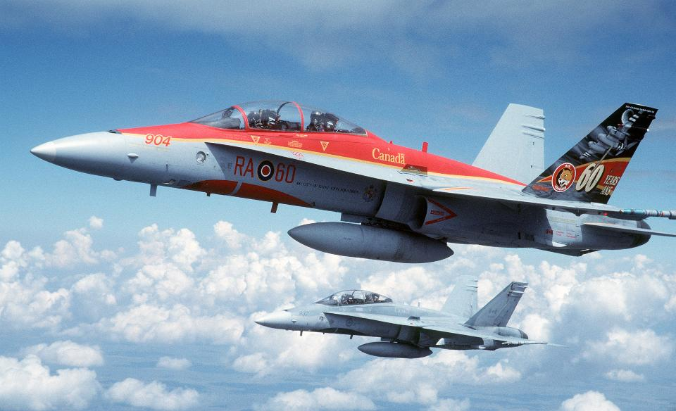 Free download high resolution image - free image free photo free stock image public domain picture  Two Canadian Forces, 410 Squadron CF-188B Multi-Role Fighters