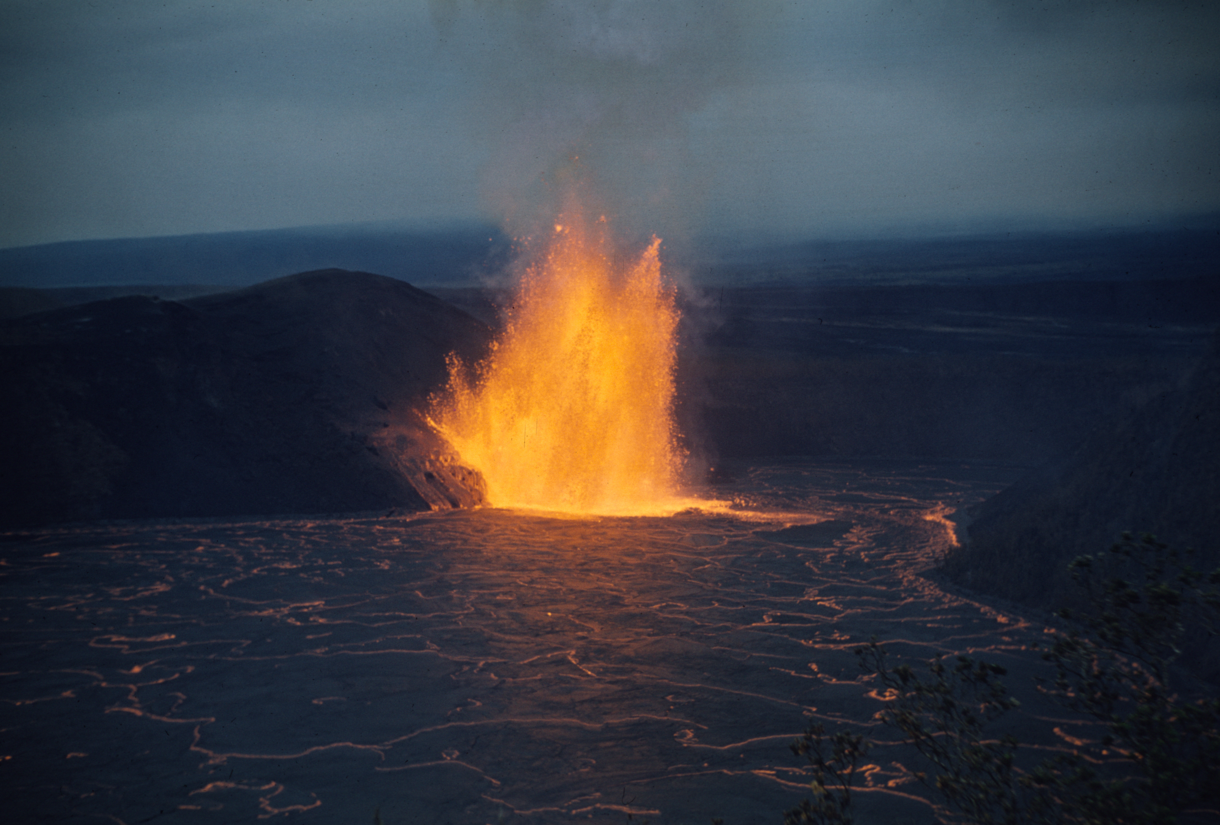 Free download high resolution image - free image free photo free stock image public domain picture -Lava fountain shimmers across lava lake in Kīlauea Iki Crater