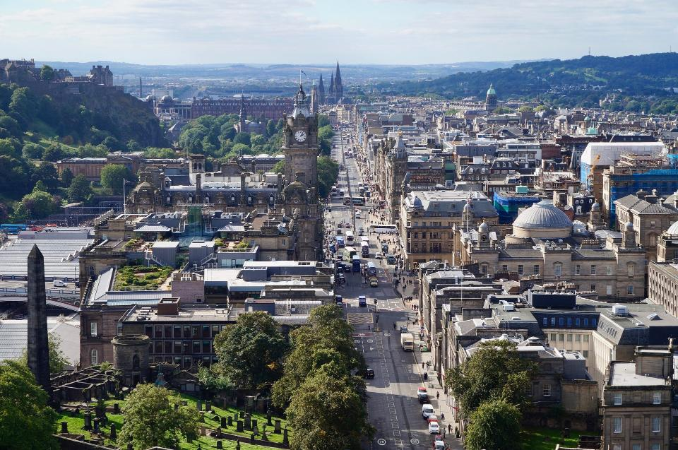 Free download high resolution image - free image free photo free stock image public domain picture  Old town Edinburgh and Edinburgh castle in Scotland UK