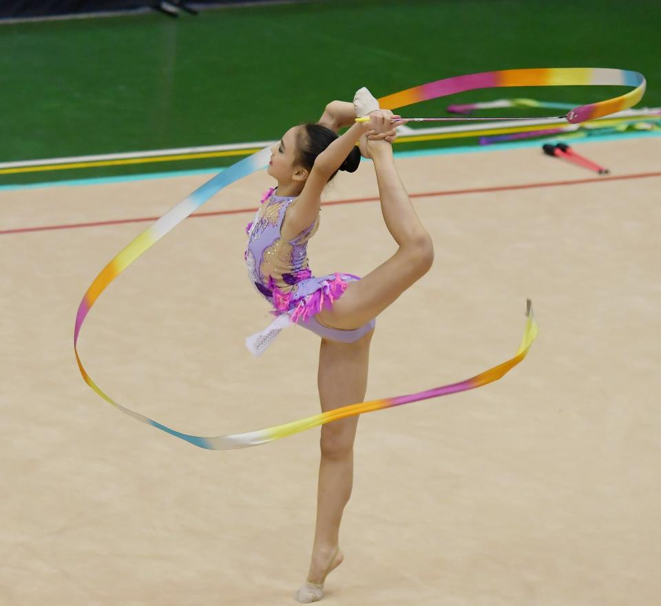 Free download high resolution image - free image free photo free stock image public domain picture  Beautiful rhythmic gymnast in professional arena